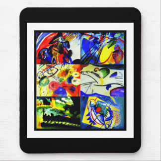 Mousepad Vintage Art Kandinsky Collage Mouse Pads
