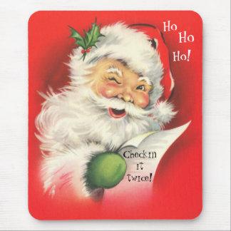 Mousepad, Vintage Christmas Santa Claus Mouse Mat
