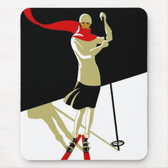 Mousepad Vintage Saint Croix Skiing Travel Posters
