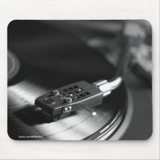 MousePad: Vinyl Record on a Turntable. Vintage Mouse Mat