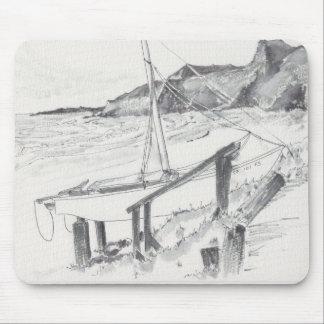 "Mousepad Watercolor Sketch ""Crystal Cove"""