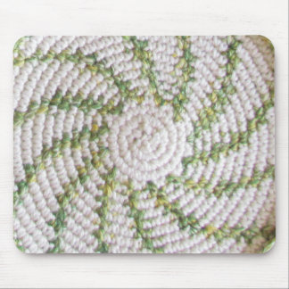 Mousepad - White and Green Spiral