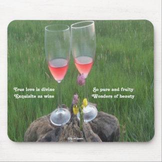 Mousepad Wine Poem By Ladee Basset