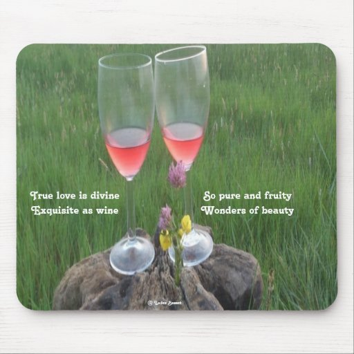 Mousepad Wine Poem By Ladee Basset