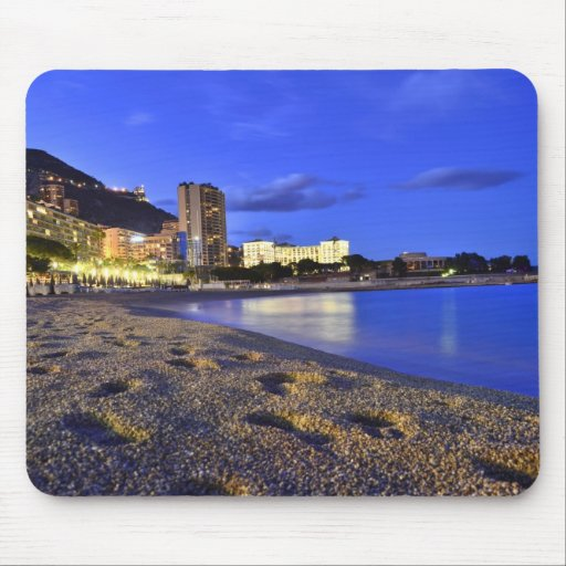Mousepad with a photo of Monaco beach