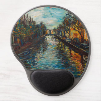 Mousepad with Amsterdam`s view Gel Mouse Mat