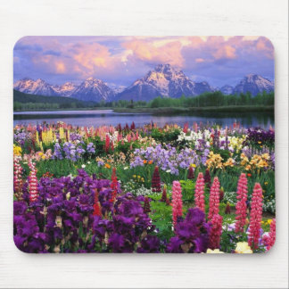 Mousepad with beautiful floral scenery