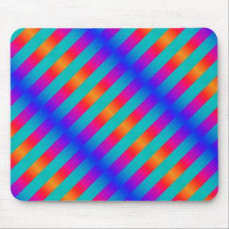 Mousepad with Blue and Orange Stripes