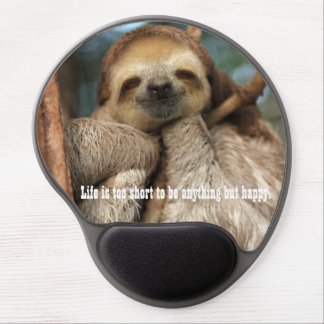 Mousepad with happy sloth gel mouse mat