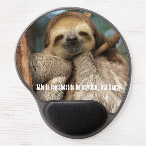 Mousepad with happy sloth gel mouse mats