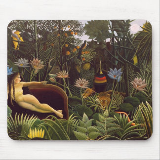 """Mousepad with Henri Rouseau's """"The Dream"""" painting"""