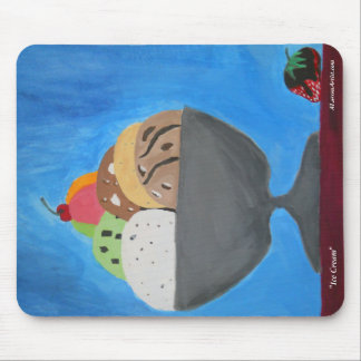 """Mousepad with """"Ice Cream"""" by ALarsenArtist"""
