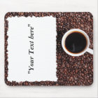 Mousepad with Kaffemotiv and text field