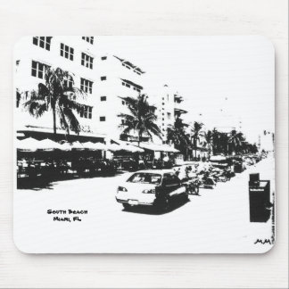 mousepad with picture of south beach