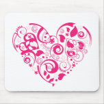 Mousepad  with red decorative heart