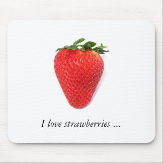 Mousepad with strawberry