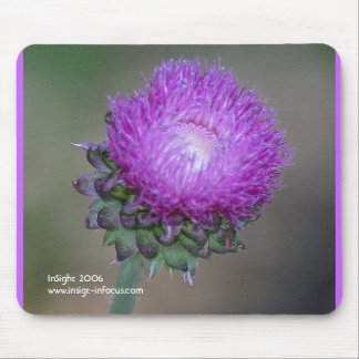 Mousepad with Thistle