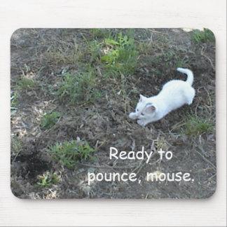 Mousepad with White Kitten