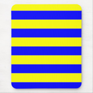 Mousepad - Yellow and Blue - Broad Stripes