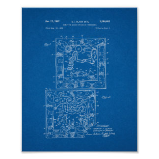 Mousetrap Board Game Patent - Blueprint Poster