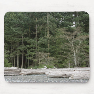 Mouspad with trees and logs, Washington State Mouse Pad