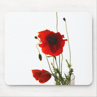 Mousse pad poppies mouse mat