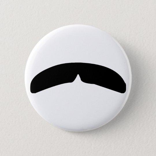 Moustache 6 Cm Round Badge