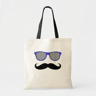 Moustache and Blue Sunglasses Humour