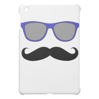 Moustache and Blue Sunglasses Humour iPad Mini Cases