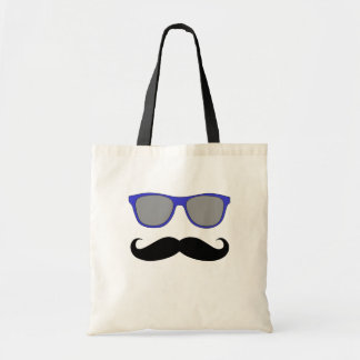 Moustache and Blue Sunglasses Humour Tote Bag