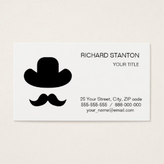 Moustache and hat business card