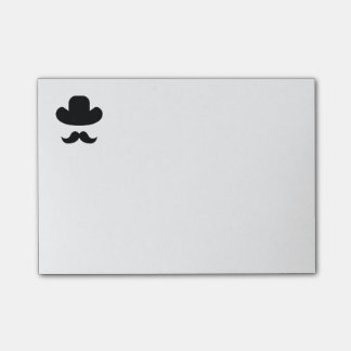 Moustache and hat post-it notes