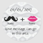 Moustache and Lips CustomizeABLEs Round Stickers