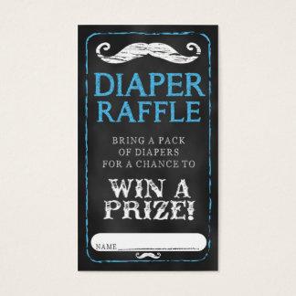 Moustache Baby Shower Diaper Raffle Ticket Baby