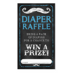 Moustache Baby Shower Diaper Raffle Ticket Baby Pack Of Standard Business Cards