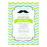 Moustache Baby Shower Invitation