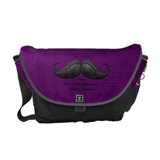 Moustache Bag, Stop Rape Against Women Courier Bag
