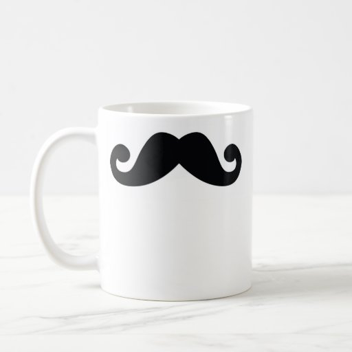 Moustache Basic White Mug