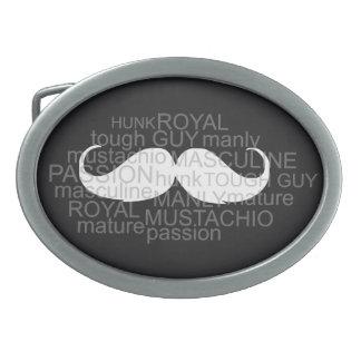 Moustache Belt Buckle gift for him Cool & Smart
