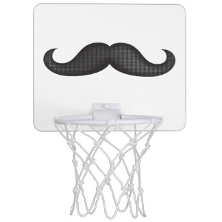 Moustache - Black Mini Basketball Hoop
