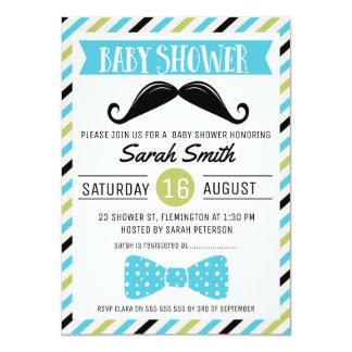 Moustache Bow Little Man Baby Shower Invitation