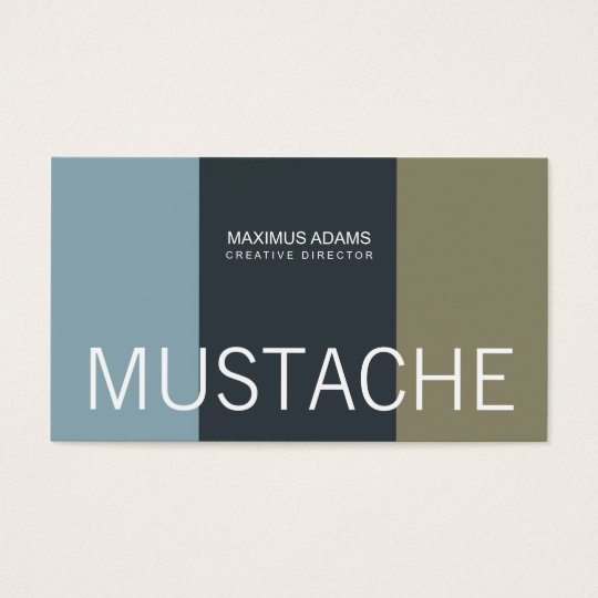 Moustache Business Cards