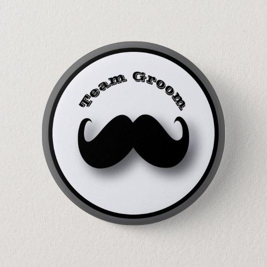 Moustache Button - Team Groom