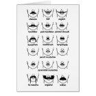 Moustache Chart Card