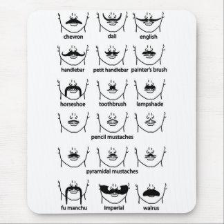 Moustache Chart Mouse Mat