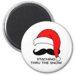 Moustache Christmas - Staching thru the snow