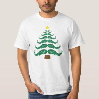 Moustache Christmas Tree T-Shirt