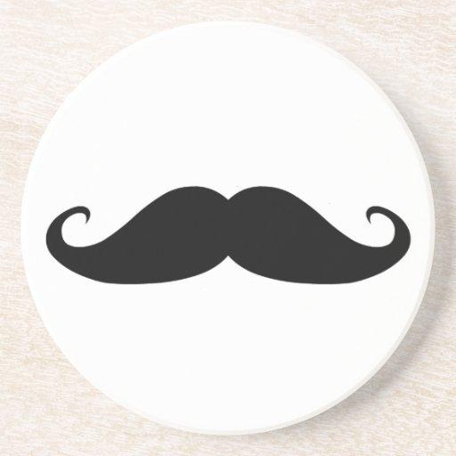 Moustache coasters!