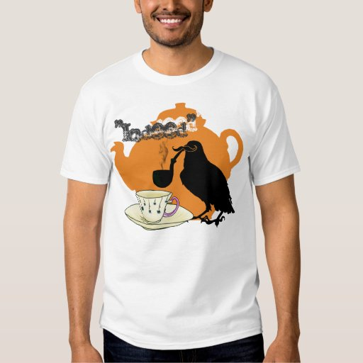 Moustache crow t shirts