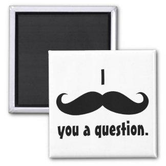 Moustache disguise funny moustache facial hair square magnet